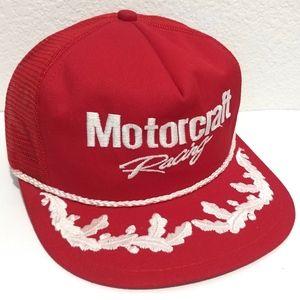 Vintage Motorcraft Racing Snapback Hat Made in USA